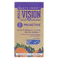 """Витамины для зрения """"Сильное зрение"""" Wiley's Finest с черникой, лютеином и Омегой, 550 мг, 60 табл"""