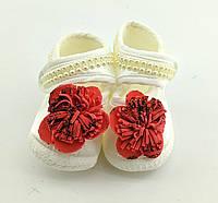 Дитячі босоніжки 16.5 розмір 10 см довжина взуття на новонароджених для дівчинки Туреччина нарядні, фото 1