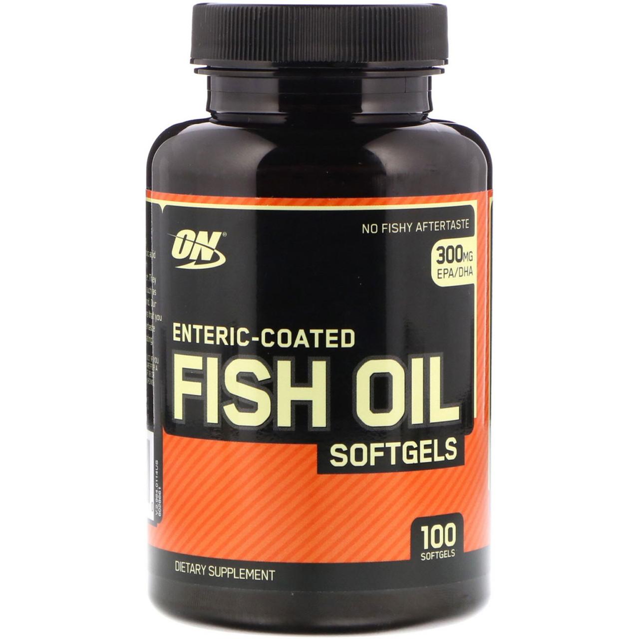 Рыбий жир Optimum Nutrition, 100 мягких желатиновых капсул