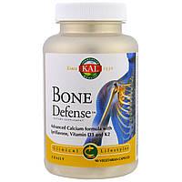 Биодобавка для защиты костной ткани KAL, Защита костей, 90 растительных капсул
