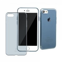 Защитный чехол Baseus Simple Series Anti-Scratch Transparent/Blue для iPhone 7/8