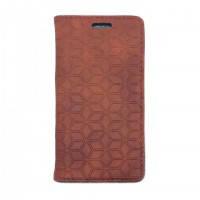Кожаный чехол oneLounge Diamond Grid Light Brown для iPhone 7 Plus/8 Plus