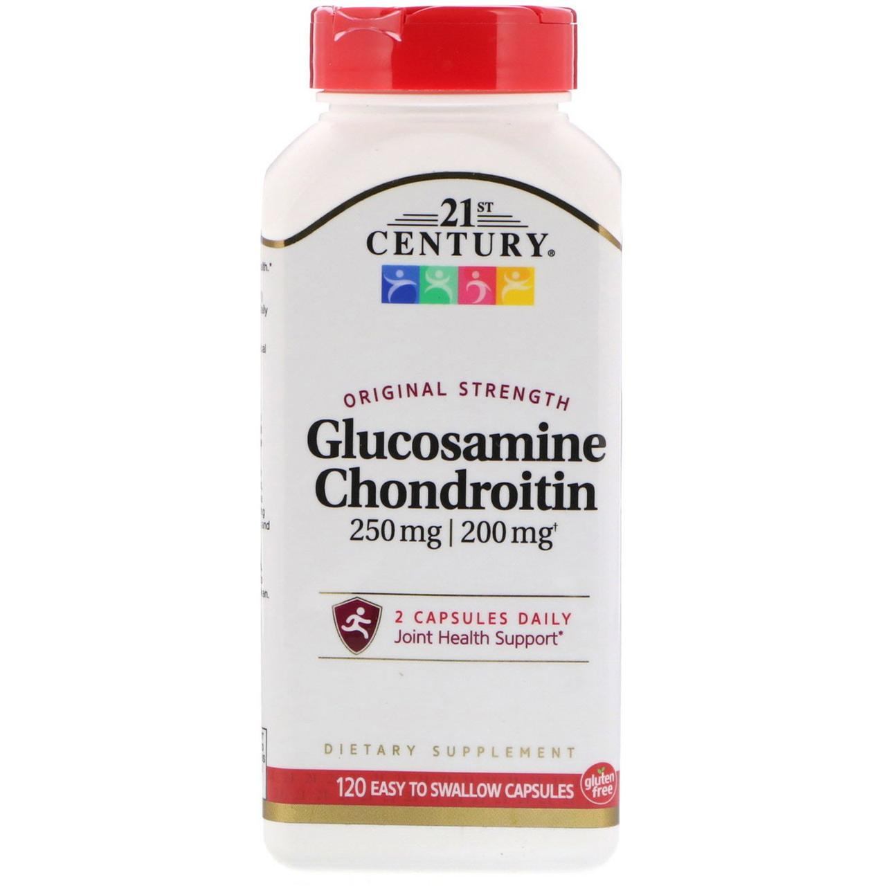 21st Century, Glucosamine 250 mg Chondroitin 200 mg, Original Strength, 120 Easy to Swallow Capsules
