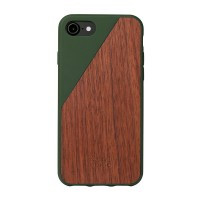 Деревянный чехол Native Union CLIC Wooden Olive/Walnut для iPhone 7/8