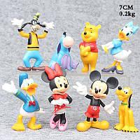 Фигурки героев мультфильма Микки Маус 8 штук