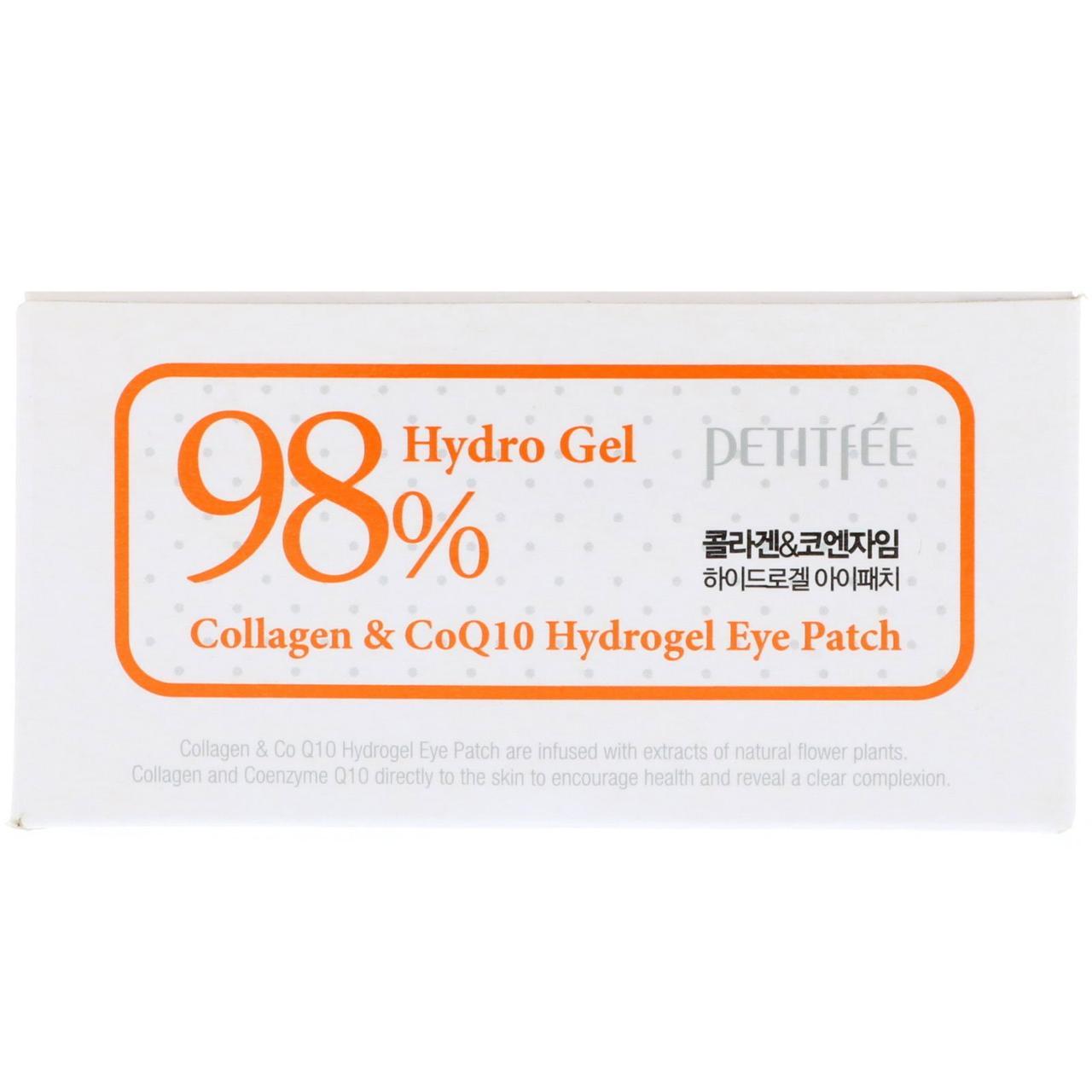 Petitfee, Патчи для глаз с коллагеном и гидрогелем CoQ10, 60 шт, 1,4 г каждый