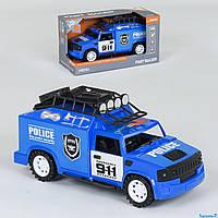 Инерционная машинка полиция Police J85 (полицейский джип): размер 20см (свет + звук)