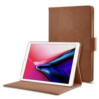 "Кожаный чехол Spigen Stand Folio Brown для iPad 9.7""(2017/2018)/Air"