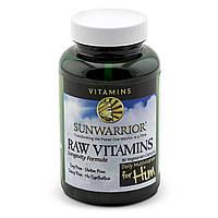 Сырые витамины Sunwarrior, ежедневный мультивитамин для него, 90 капсул на растительной основе