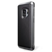 Противоударный чехол X-Doria Defense Lux Black Leather для Samsung Galaxy S9