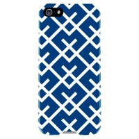 Чехол Agent18 SlimShield Limited Geometric Navy/White для iPhone 5/5S/SE