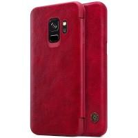 Кожаный чехол-книжка Nillkin Qin Series Red для Samsung Galaxy S9