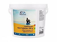 Хімія для басейну Chemochlor Multitab - Медленорастворимые таблетки 4 в 1(табл. 200 г) 5 кг