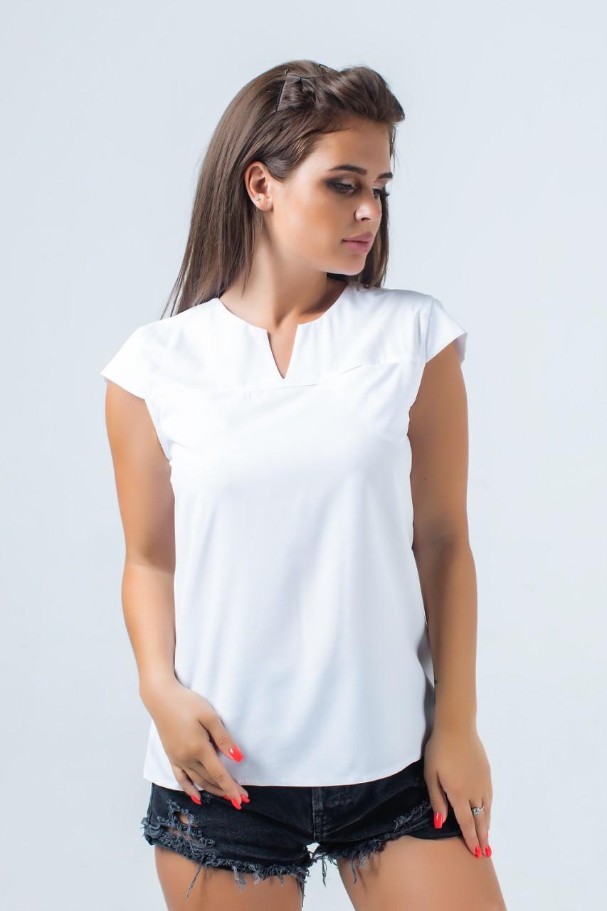 Простая блузка на лето 42-50 (в расцветках)