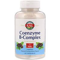 Комплекс Витаминов В KAL коэнзимный, натуральная мята и какао, 60 жевательных таблеток