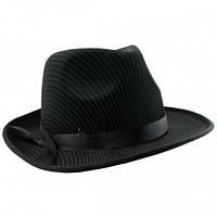 Шляпа мужская Мафия черная Код:113307