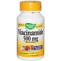 Nature's Way, Никотинамид, 500 мг, 100 капсул