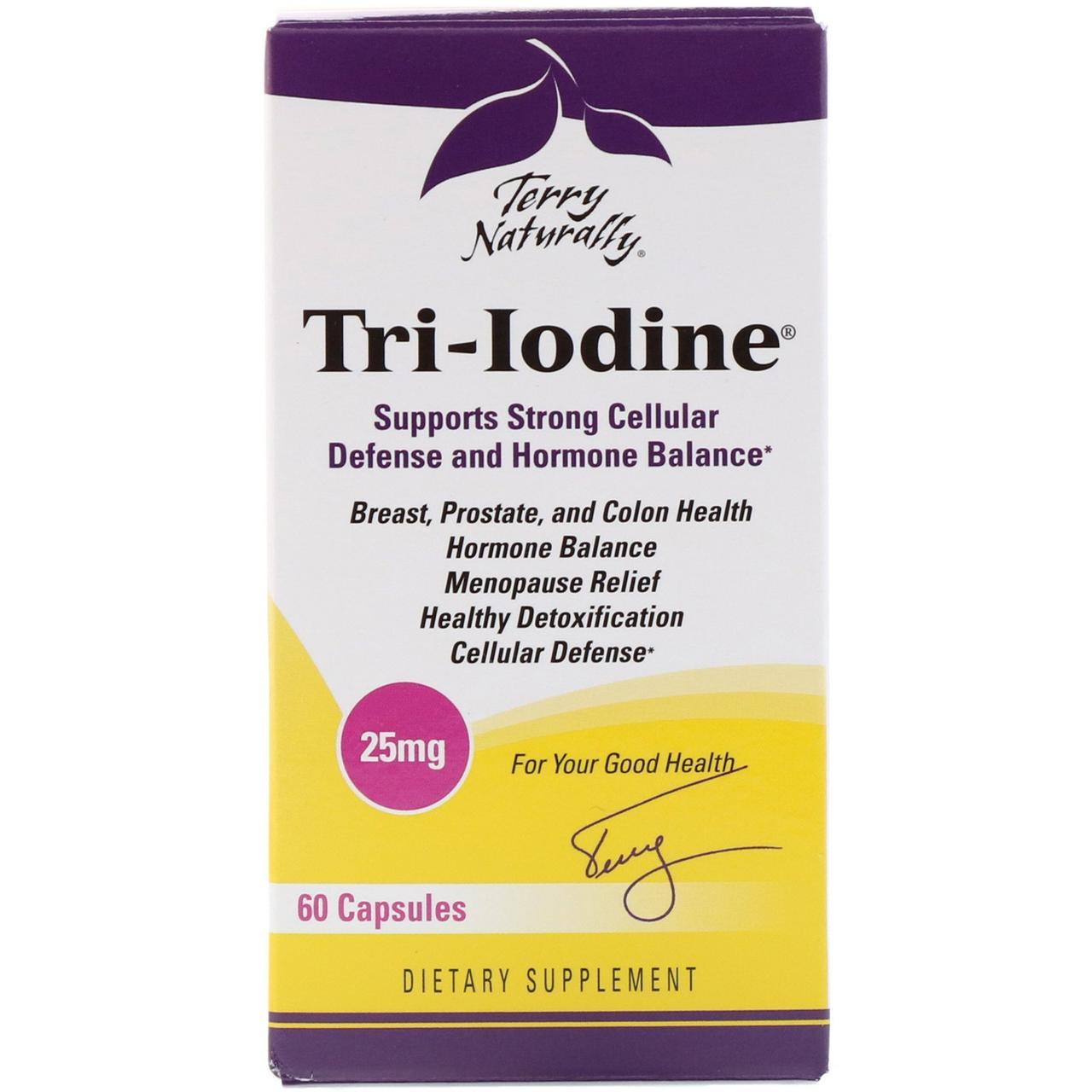 Капсулы Tri-Iodine от Terry Naturally и EuroPharma, 60 капсул