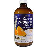 LifeTime Vitamins, Цитрат кальция и магния плюс витамин D3, оригинальный, со вкусом апельсина и ванили, 16 жидких унций (473 мл)