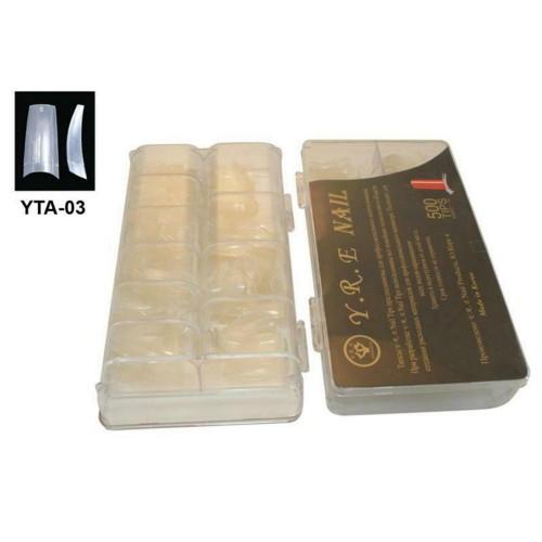Типсы для наращивания прозрачные с широкой контактной зоной, 500 шт