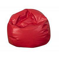Кресло-мяч из кожзама красный