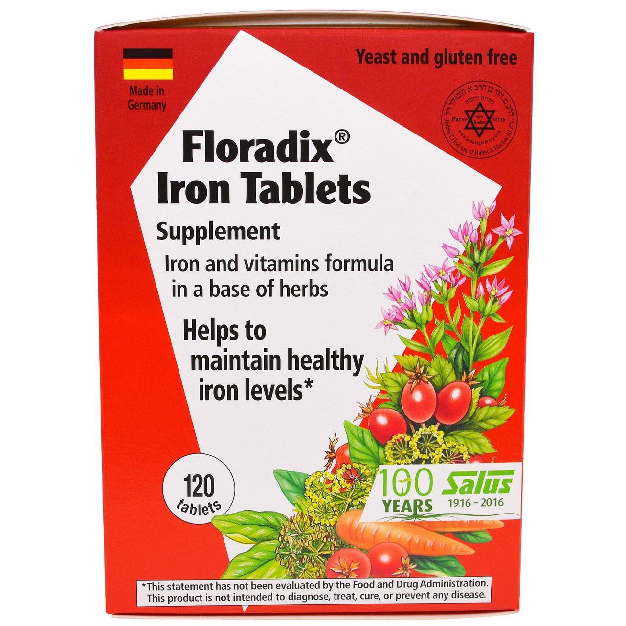 Железо Flora, железо и витамины на основе трав, 120 таблеток