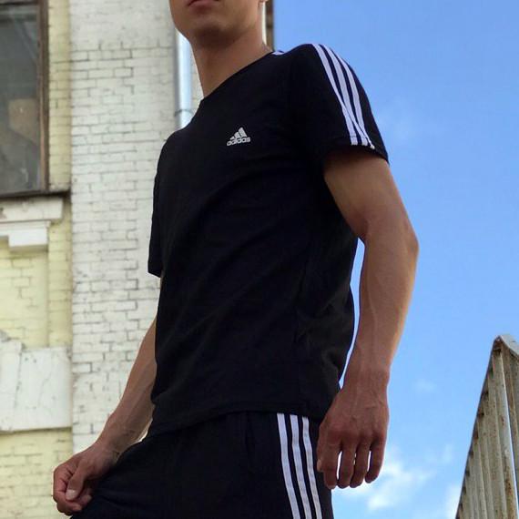 Футболка в стиле Adidas Classic черная