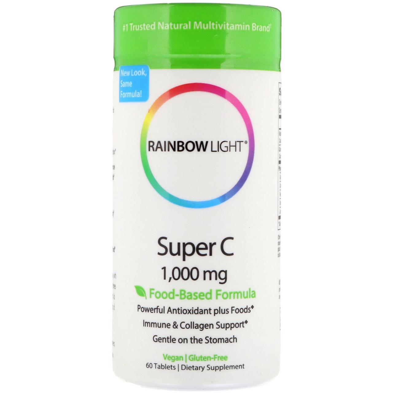 Супер С Rainbow Light, 1000 мг, 60 таблеток