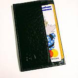 Картхолдер шкіряний на 4 картки, чорний миниформат, фото 9
