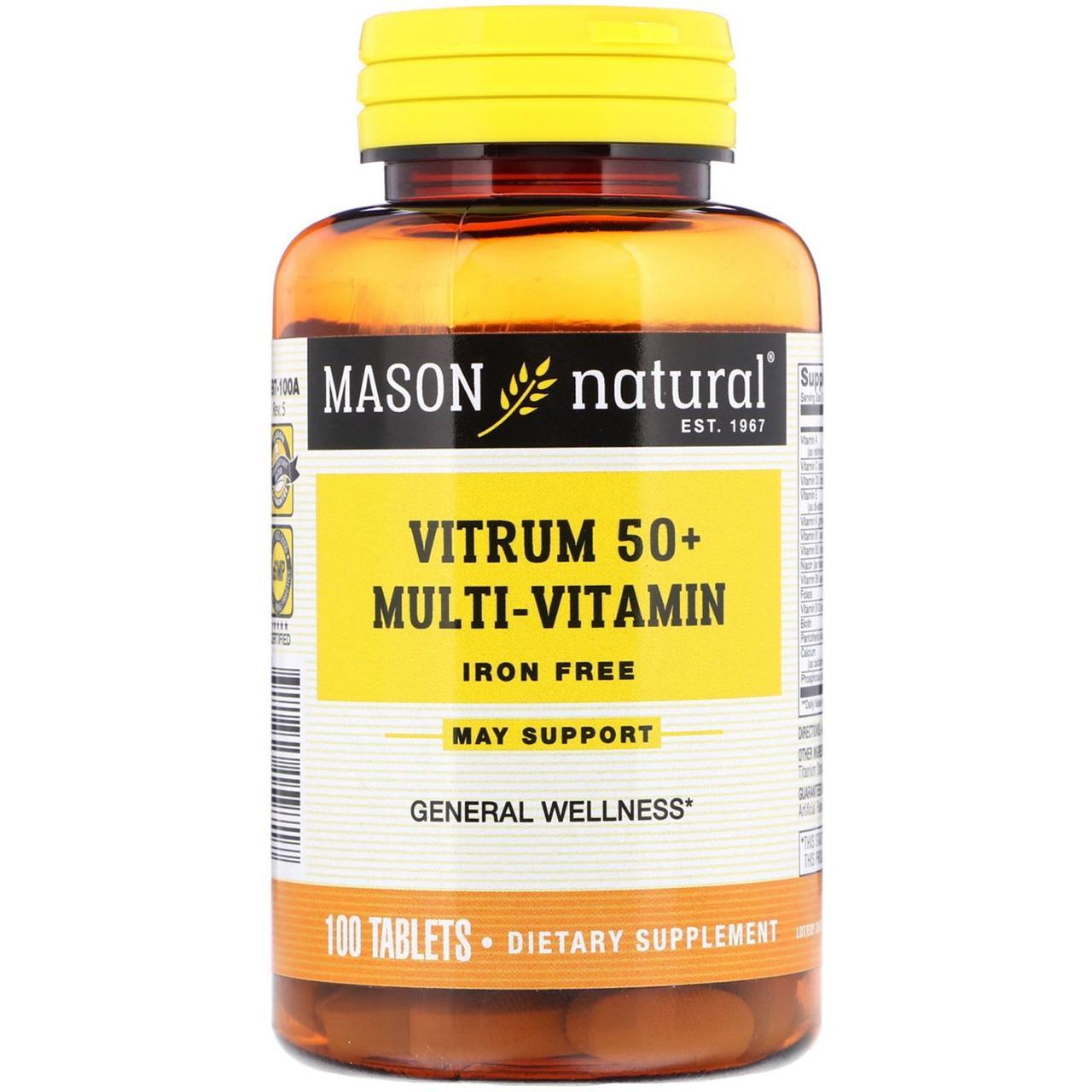 "Мультивитамины 50+ ""Витрум"" от Mason Natural, 100 таблеток"