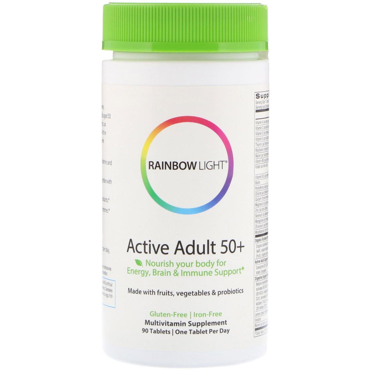 """Биодобавка для пожилых людей """"Активная зрелость 50+"""" от Rainbow Light, 90 таблеток"""