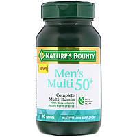 """""""Мультивитамин для мужчин от 50 лет"""" от Nature's Bounty, полный комплекс мультивитаминов, 80 таблеток"""