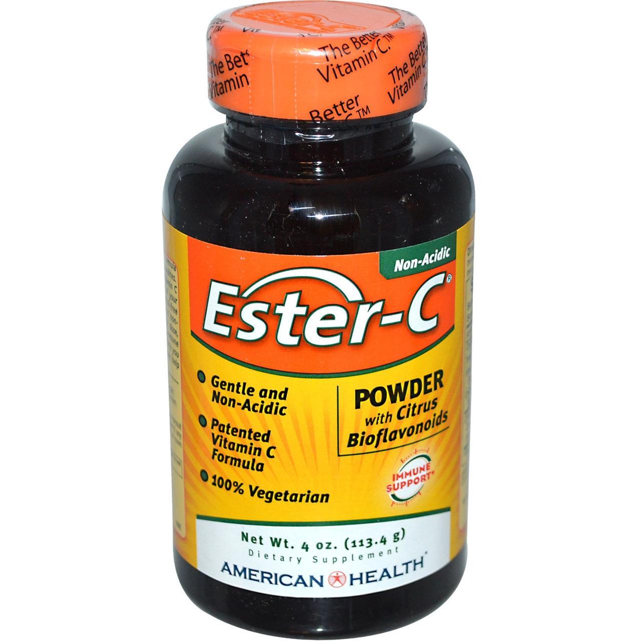 American Health, Эстер-С, порошок с цитрусовыми биофлавоноидами, 4 унции (113,4 г)