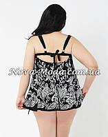 Большой купальник 60 размер. Черный купальник-платье, модный танкини для красивых женщин с формами