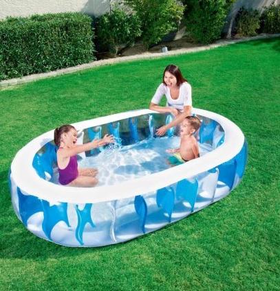 Детский плавательный бассейн для детей.Бассейн надувной детский овальный.