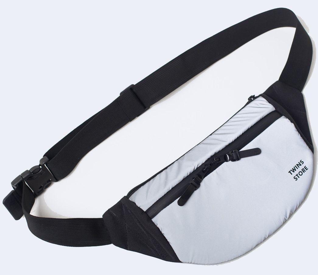 Поясная сумка TwinsStore Б202 серый