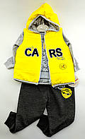 Костюм для новонароджених 9, 12, 18 місяців Туреччина з кептариком для хлопчика жовтий (КНК18)