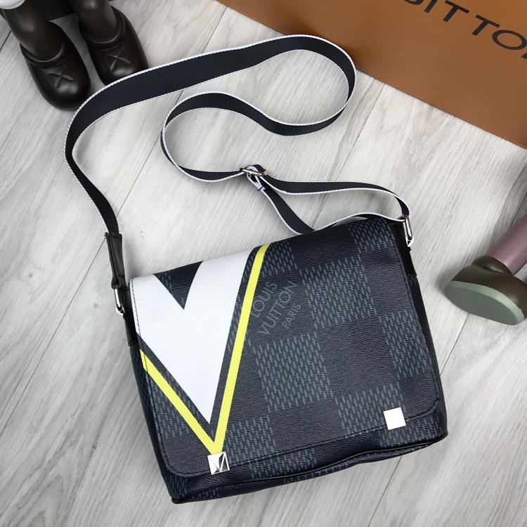 Стильная сумка мессенджер Louis Vuitton серая Люкс Качество мужская сумка через плечо Луи Виттон реплика