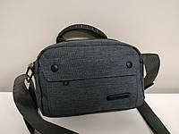 """Стильная мужская сумка мини на длинной ручке """"Марио Gray"""", фото 1"""