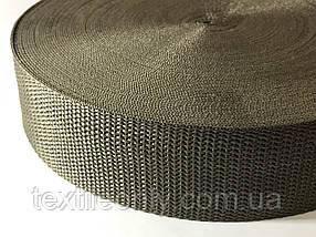 Тасьма сумочная щільна колір хакі 40 мм