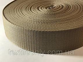 Тасьма сумочная щільна колір бежевий 40 мм