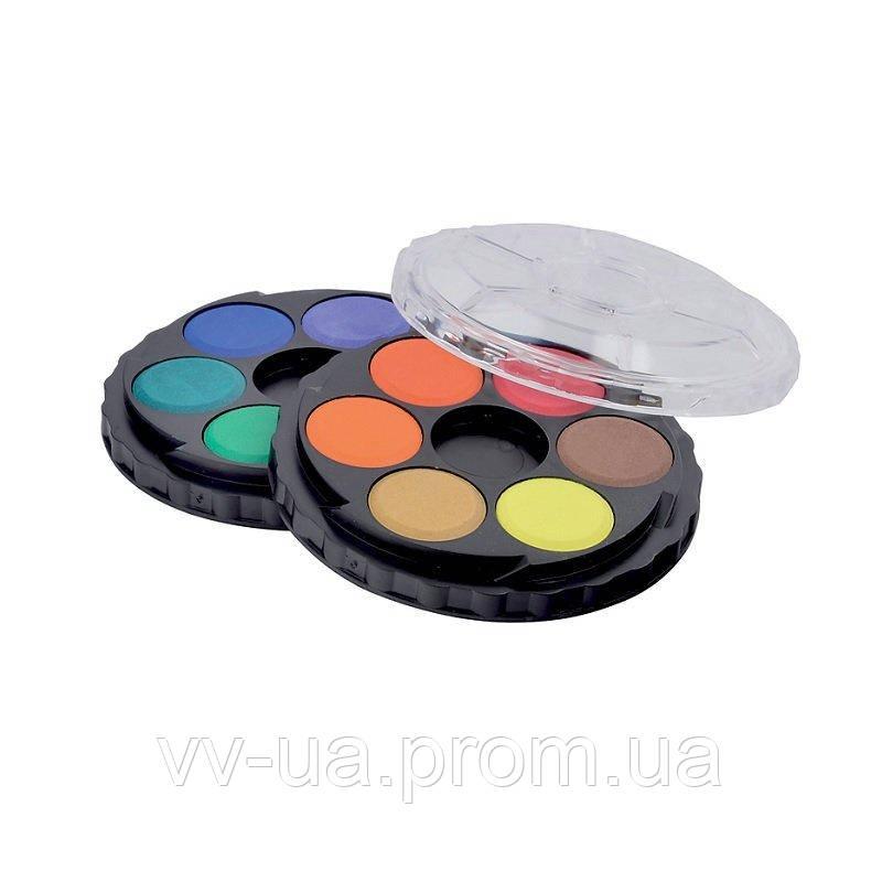 Краски акварельные Koh-i-Noor, круглая пласт. упаковка, б/к, 12 цв. (171503)