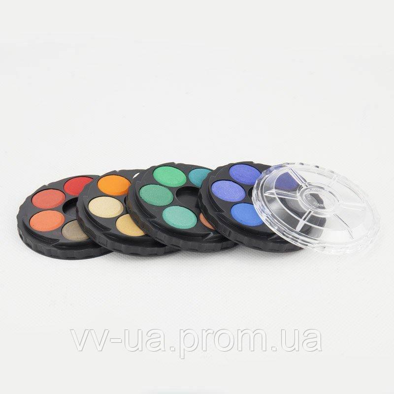 Краски акварельные Koh-i-Noor, круглая пласт. упаковка, б/к, 24 цв. (171506)