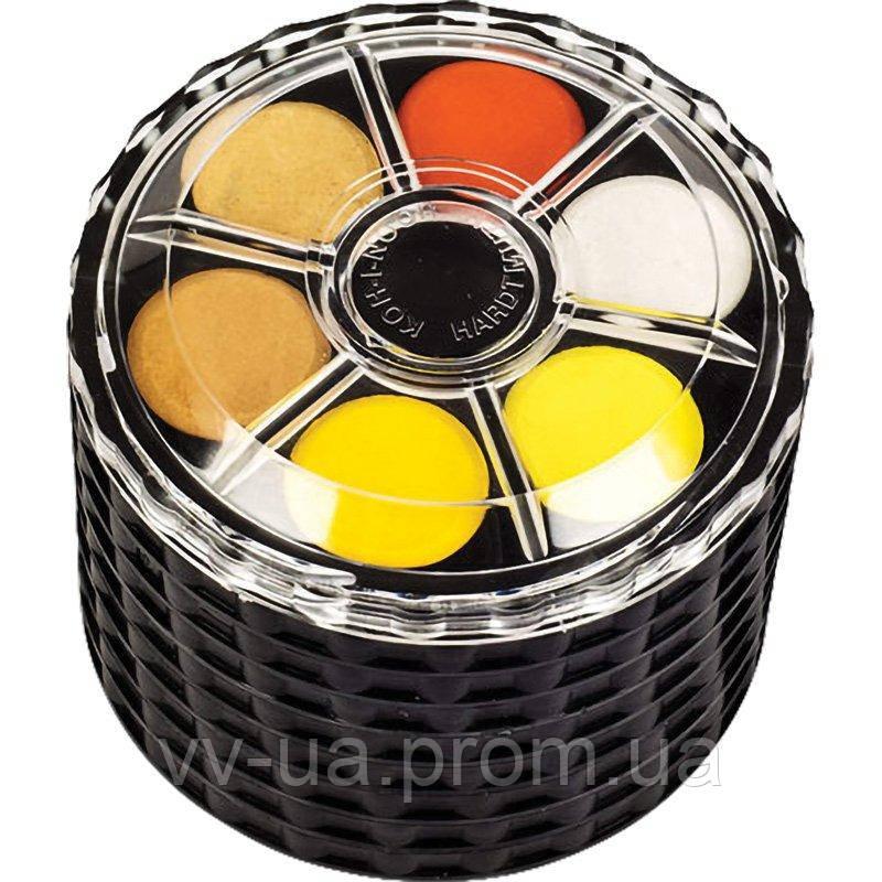 Краски акварельные Koh-i-Noor, круглая пласт. упаковка, б/к, 48 цв. (171507)