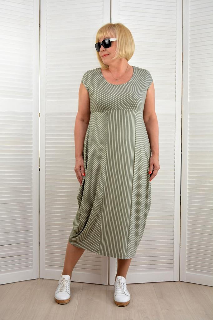 Платье в полоску  - Модель Л366-2