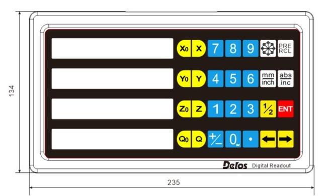 Однокоординатное устройство цифровой индикации DSC-1V