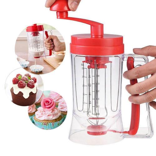 Универсальный ручной миксер для теста с дозатором Pancake Machine, аппарат для панкейков