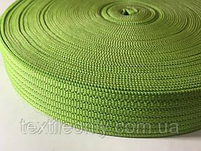 Тасьма сумочная щільна колір салатовий 40 мм