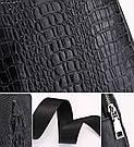 Мужская сумка на одно плечо, слинг Alligator. Черная / 2799 Vsem, фото 7