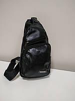 """Мужская сумка на грудь, мини-рюкзак """"Jeremy Black"""""""